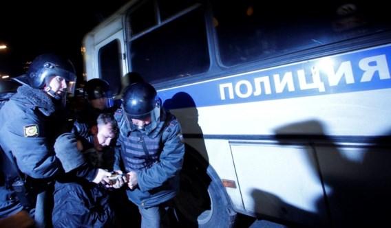Russische veiligheidstroepen slaags met betogers