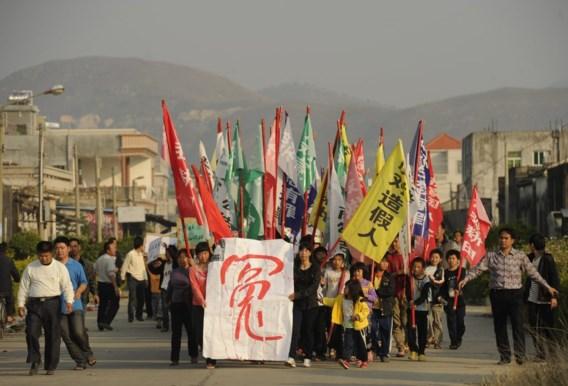 Gespannen protest in Chinees vissersdorp