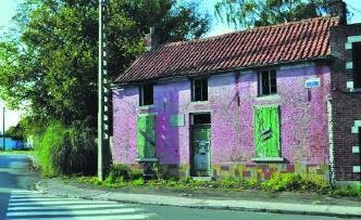 Het huis in Wasmes waar Vincent Van Gogh woonde.rr