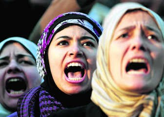 Het Egyptische parlement telt slechts acht vrouwen.rtr