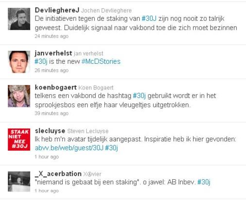 Twitter-offensief ABVV mist doel