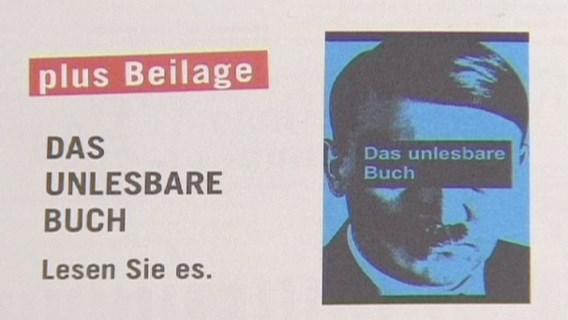 Citaten Mein Kampf in Duits tijdschrift onleesbaar gemaakt