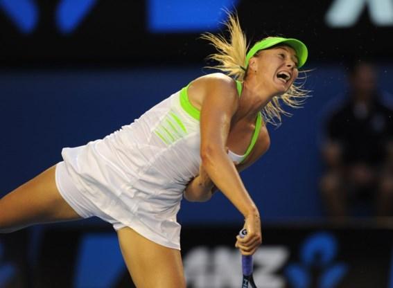 Maria Sharapova raast door naar halve finale
