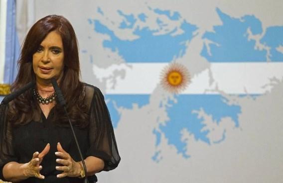 De Argentijnse president Cristina Fernandez