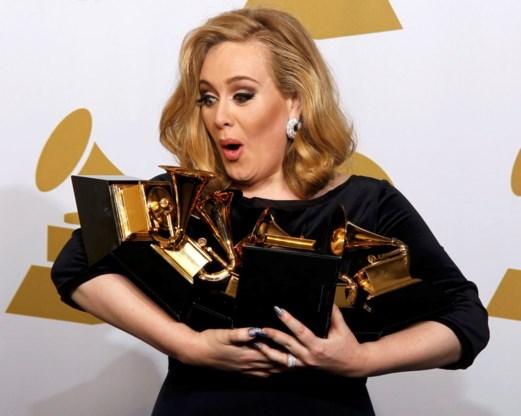 Adele is grote winnares van de Grammy's