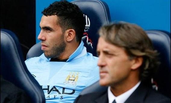 Carlos Tevez scoort opnieuw voor Manchester City