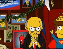Poetin als Mister Burns
