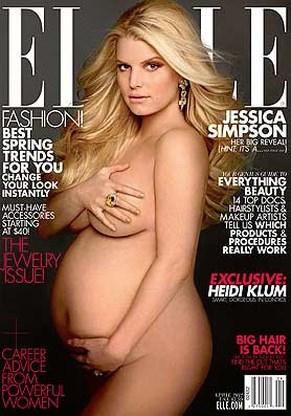 Zwangere Jessica Simpson poseert naakt