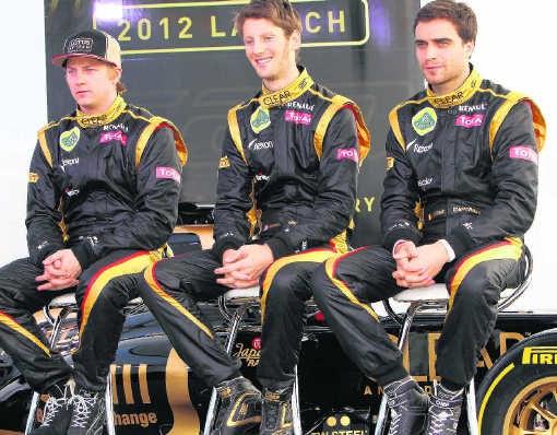 Jérôme D'Ambrosio (rechts, met Kimi Räikkönen en Romain Grosjean): 'Ik ben blij dat ik deel uitmaak van één van de grootste teams in de F1.' atp/wenn.com