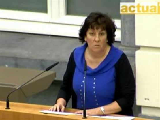 Minister Ingrid Lieten kwaad op de pers