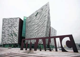 Het museum staat op de scheepswerf waar de Titanic werd gebouwd.afp