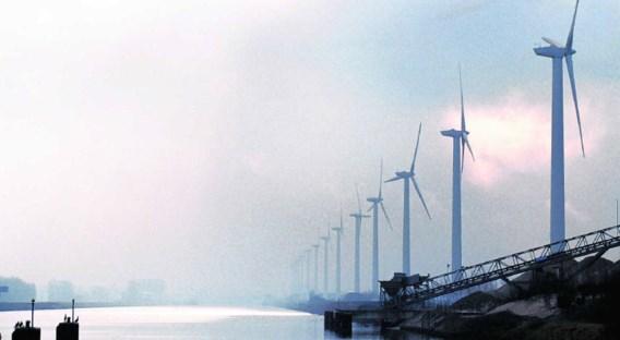 Windmolens van Electrawinds in Brugge. Photo News