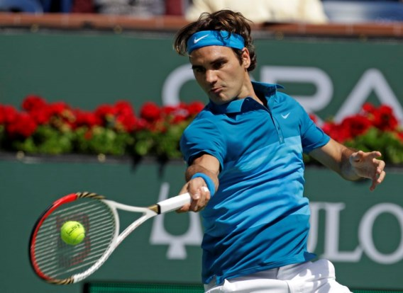 Federer voorbij Del Potro naar halve finale Indian Wells
