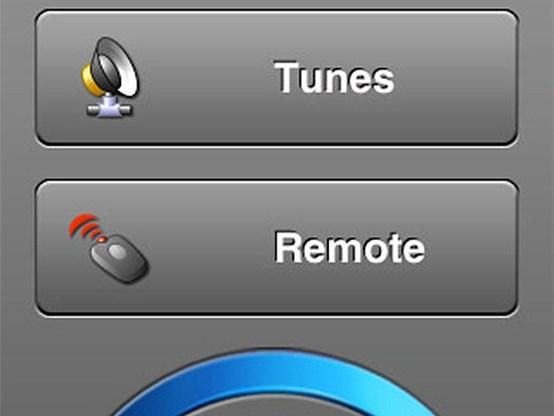 De afstandsbediening van Tunes Remote