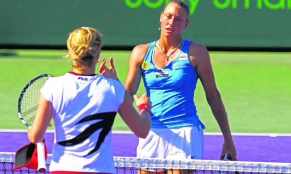 Kim Clijsters werd zaterdag in Miami weggeblazen door Yanina Wickmayer, van wie ze nooit eerder verloor.Al Bello/afp