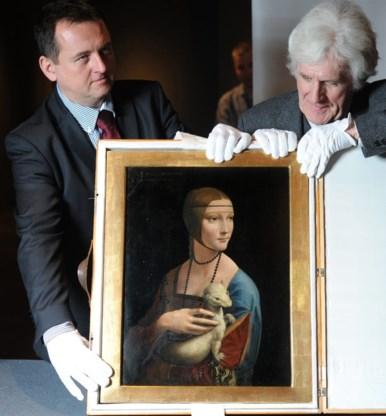 Schilderij Leonardo Da Vinci aangevreten door kevers