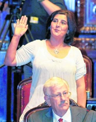 Het gedrag van PS-senatrice Fatiha Saidi zorgde voor verstomming.Nicolas Maeterlinck/imageglobe