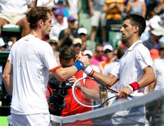 Novak Djokovic is te sterk voor Andy Murray
