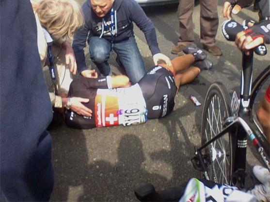 Cancellara vier tot zes weken out