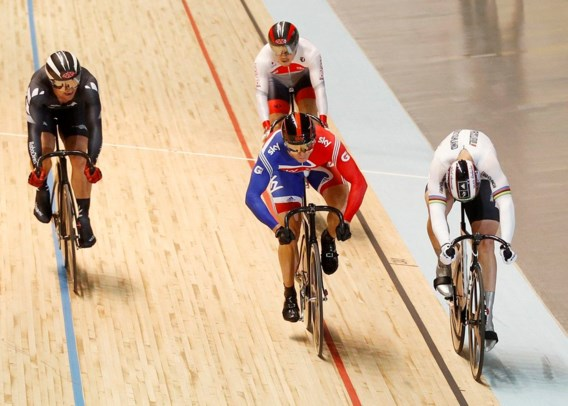 Chris Hoy wint goud in keirin