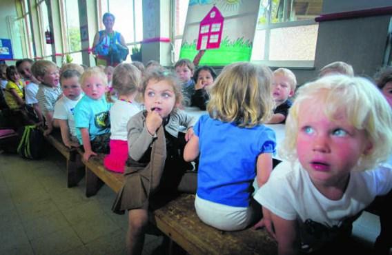 Een volle kleuterklas in Wiekevorst, een deelgemeente van Heist-op-den-Berg.Pieter-Jan Vanstockstraten/photo news