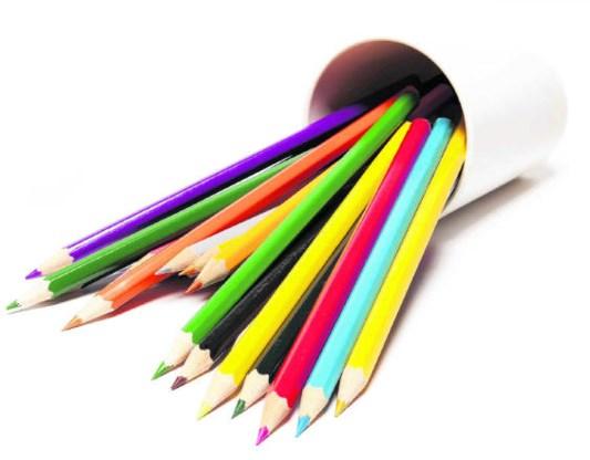 De benoeming van kleuren gebeurt steevast in dezelfde volgorde in elke taal. rr