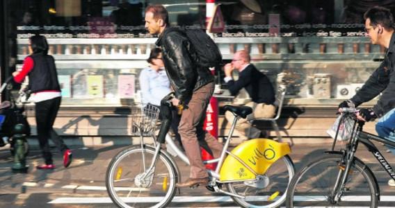 De fietsen van Villo! worden vooral voor woon-werkverkeer gebruikt.Bart Dewaele