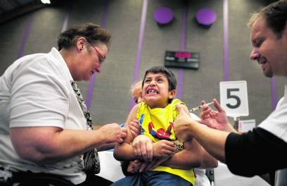 Kinderen moeten tweemaal worden ingeënt tegen mazelen. Elmer van der Marel/hh