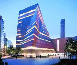 De nieuwbouw van Herzog &amp; de Meuron, waarmee Tate zijn beschikbare ruimte verdubbelt, zal klaar zijn in 2016. <br>Herzog and de Meuron and Hayes Davidson 2009