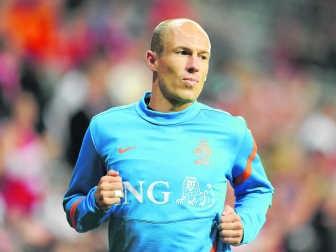 Arjen Robben was zes maanden out bij Bayern München door een hamstringblessure die hij opliep bij het WK 2010. Imageglobe
