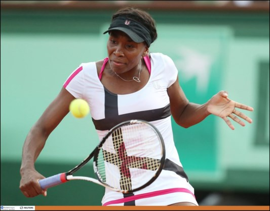 Venus Williams met moeite naar tweede ronde Roland Garros