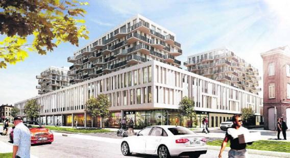 Een schets van het nieuwe wooncomplex Cadiz.