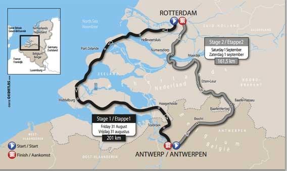 Boonen, Greipel, Kittel en Freire sprinten op 31 augustus in Antwerpen