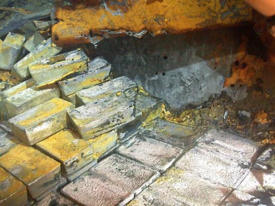 43 ton zilver ontdekt in door Nazi's gekelderd schip