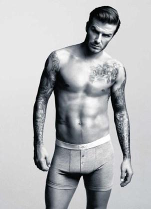 David Beckham is minstens even beroemd om de bobbel in zijn slip op de billboards als om zijn voetbalprestaties.
