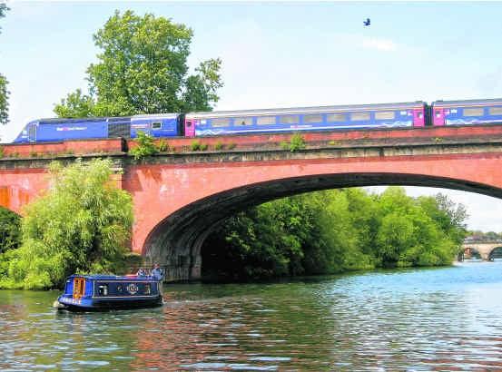De Maidenhead Railway Bridge is een bouwkundig hoogstandje.