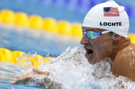 Ryan Lochte pakt eerste gouden plak, Phelps pas vierde