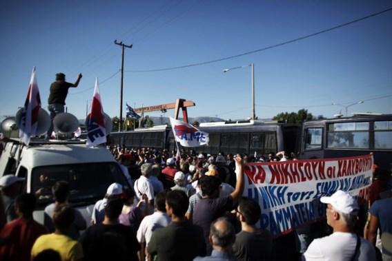 Arbeiders Griekse staalfabriek hervatten werk na negen maanden staken