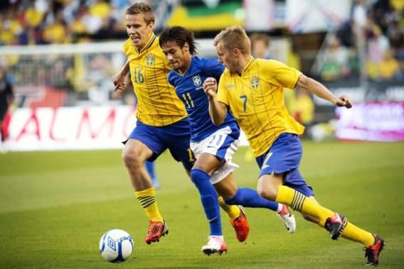 Brazilianen dansen de samba in galamatch tegen Zweden