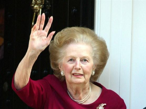 Margaret Thatcher overleden