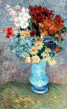 'Bloemen in blauwe vaas'.