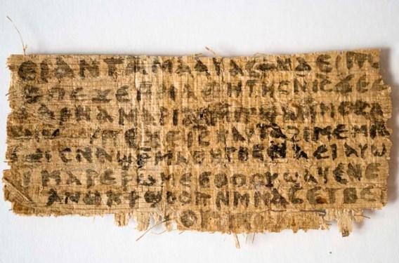 De papyrus telt acht regels tekst, de andere kant is beschadigd.