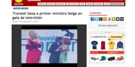 Peruaanse omroep: 'Travestiet kust Belgische premier'