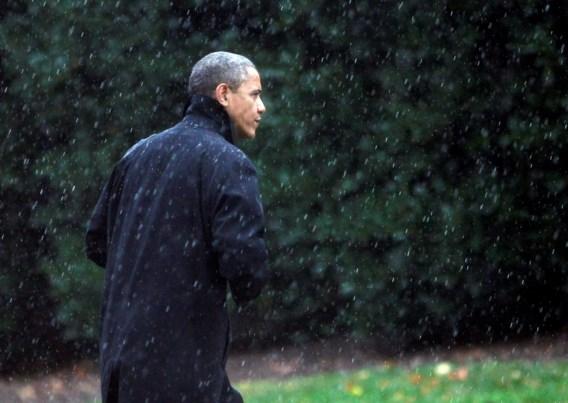Sandy stuurt campagne Obama en Romney in de war