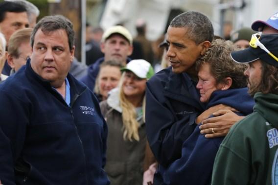 Obama bezoekt het zwaar getroffen New Jersey