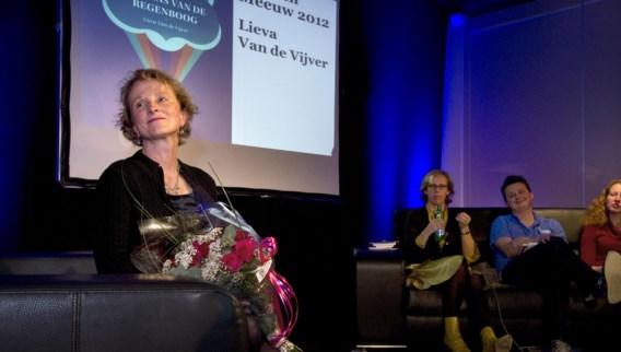 Lieva Van de Vijver bij de uitreiking van de Gouden Meeuw.