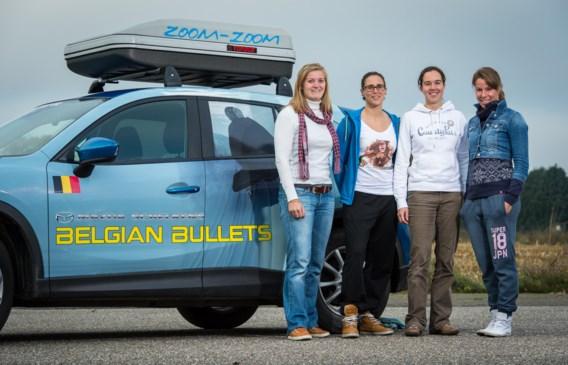 De vier 'Belgian Bullets': (vlnr) Elfje Willemsen, Eva Willemarck, Evi Vercammen en Hanna Mariën.