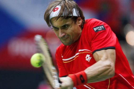 David Ferrer bezorgt Spanje 0-1 voorsprong in finale Davis Cup