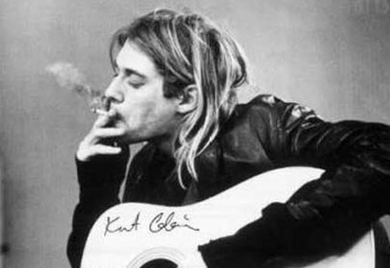 De handgeschreven top 50 van Kurt Cobain