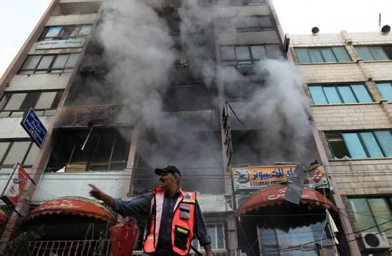 Mediacentrum voor tweede dag op rij gebombardeerd